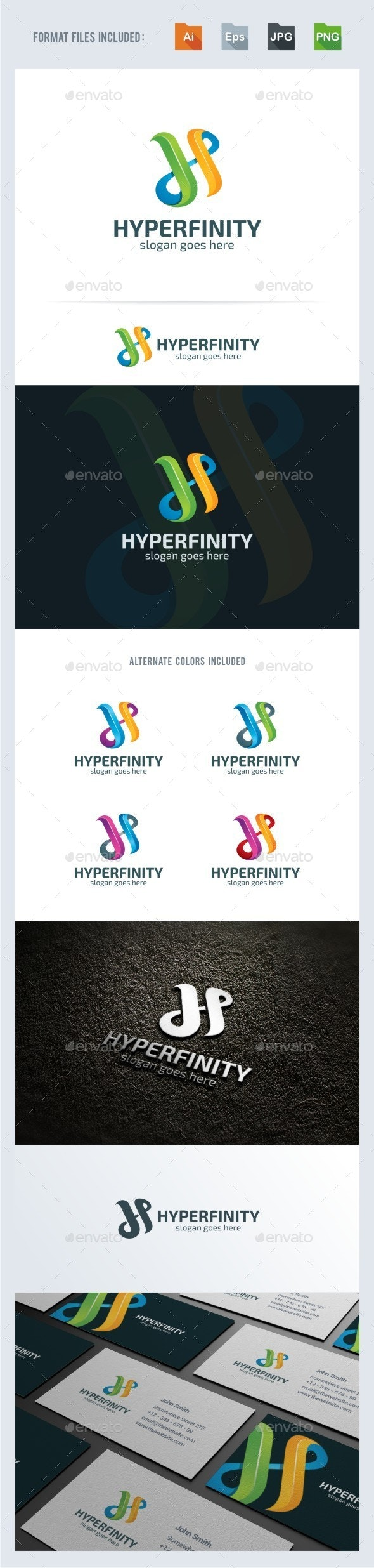 H Letter - Infinity Logo Template - Letters Logo Templates