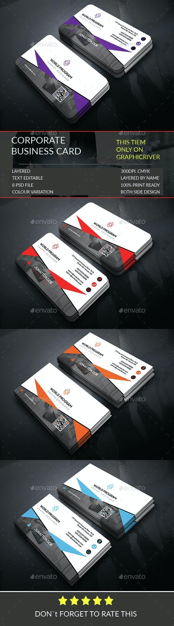 Corporate Business Card Template303 - Corporate Business Cards