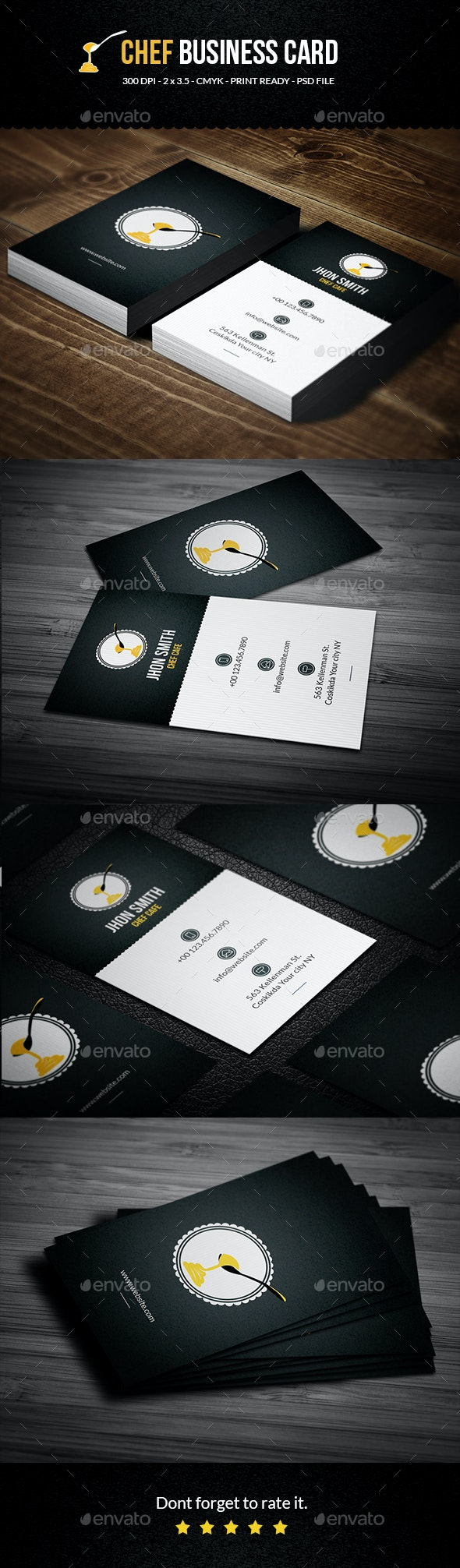 Chef Cafe Business Card - Business Cards Print Templates