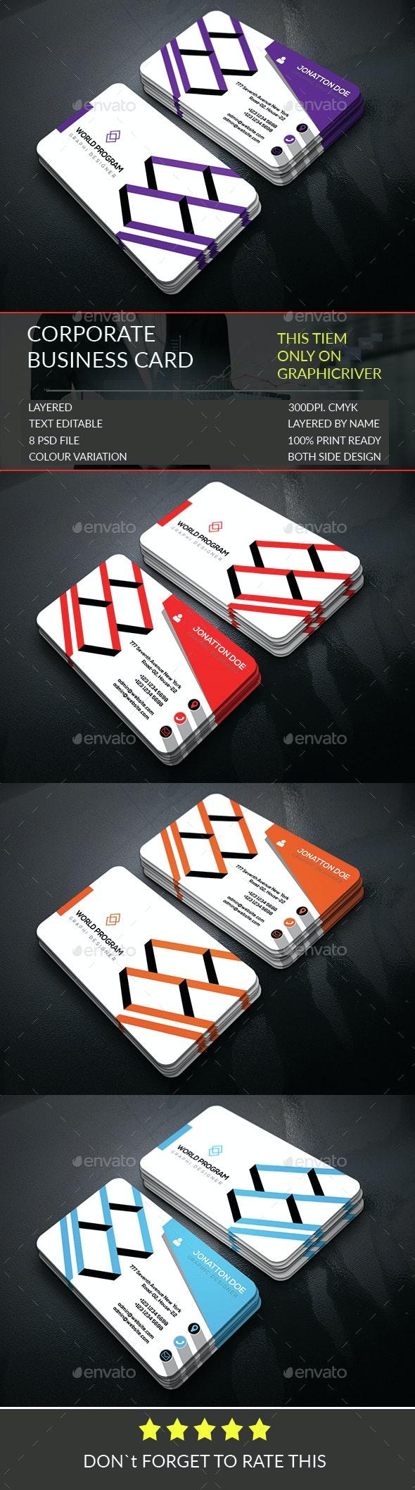 Corporate Business Card Template.304 - Corporate Business Cards