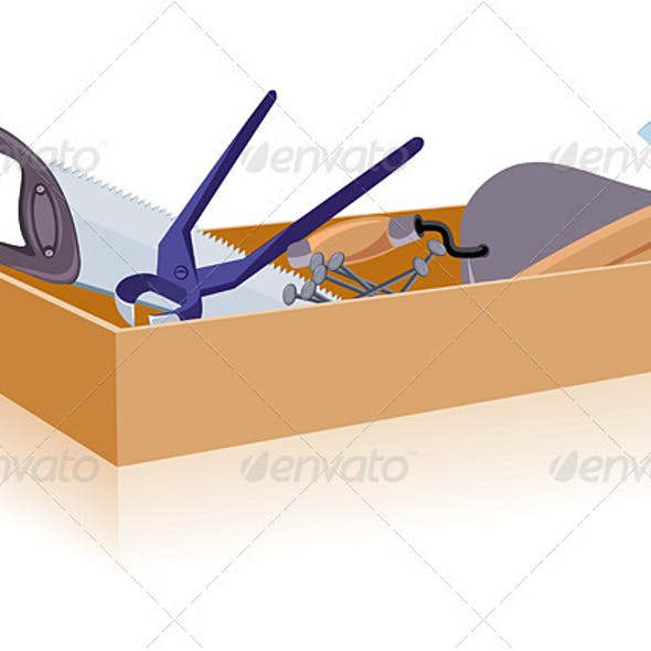 Toolbox, white and isolated background
