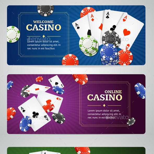 Poker Casino Banner Set