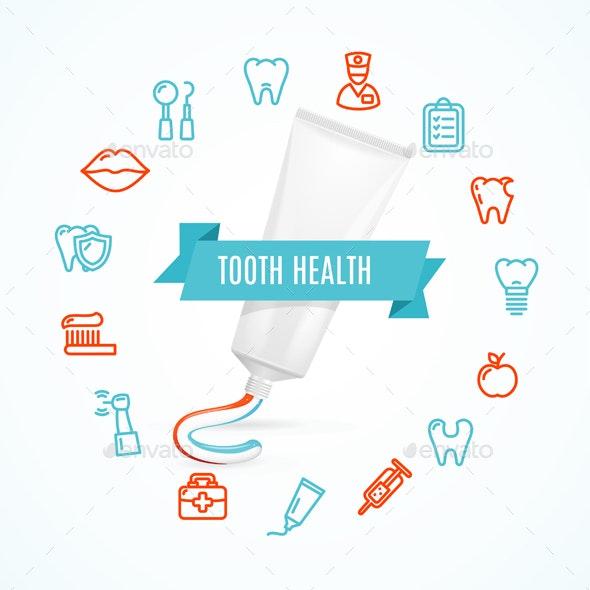 Tooth Health Concept - Health/Medicine Conceptual