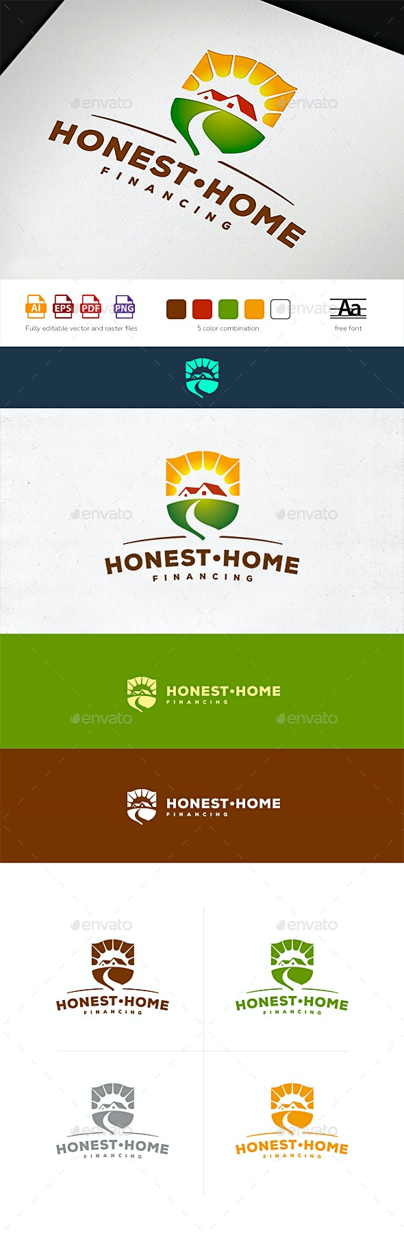 Honest Home Financing Logo Template - Buildings Logo Templates