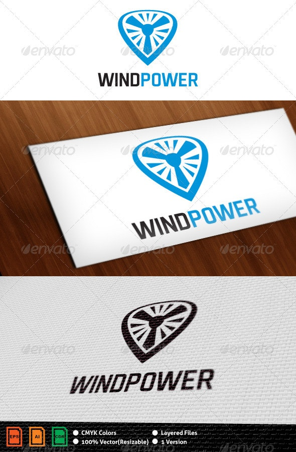 Wind Energy Logo Template - Objects Logo Templates