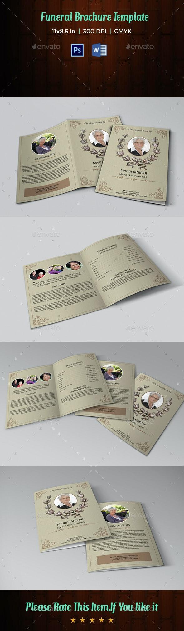 Funeral Program Template-V40 - Informational Brochures