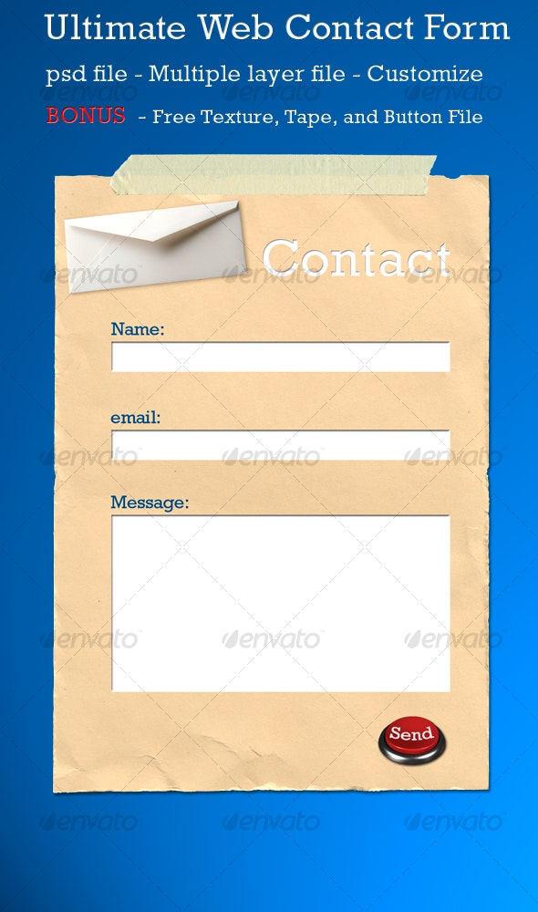 ULTIMATE WEB CONTACT FORM - Forms Web Elements