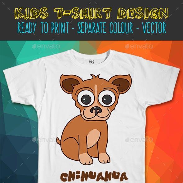 Chihuahua Dog Kids T-shirt Design