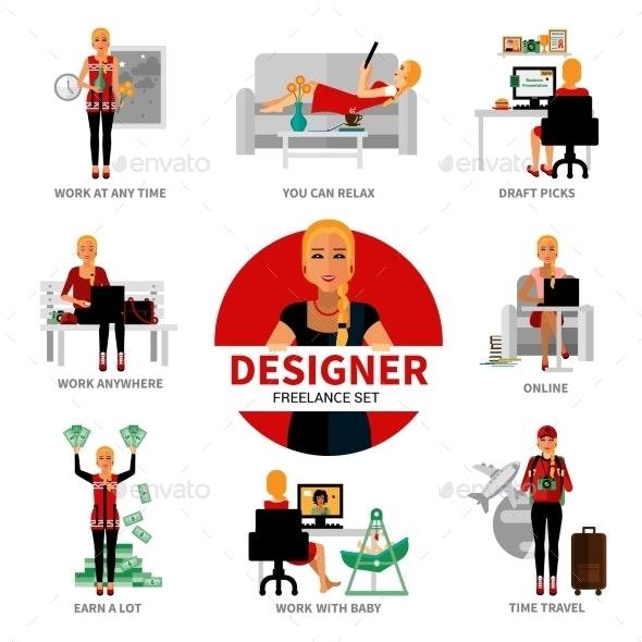 Freelance Designer Set - Concepts Business