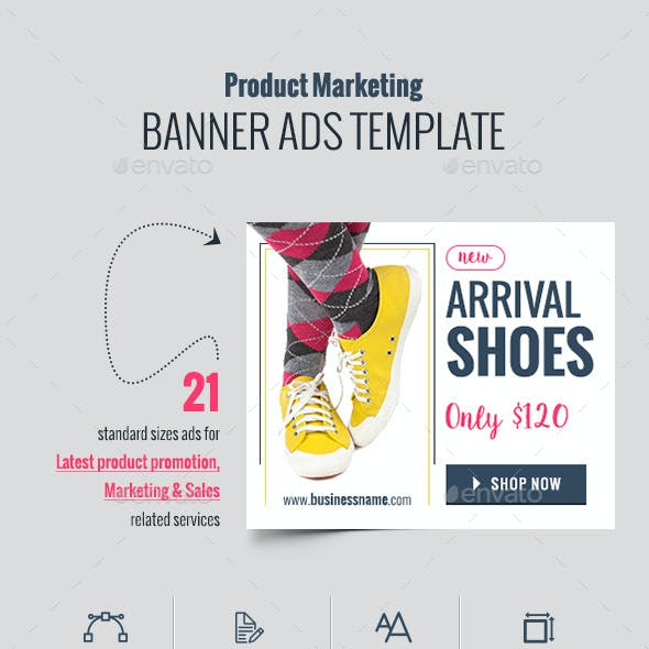 Products Sale Web Banner Ads
