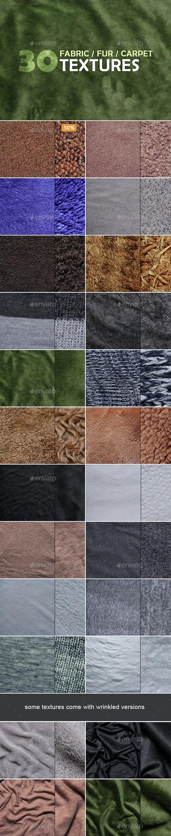 Fabric, Fur & Carpet Textures - Fabric Textures