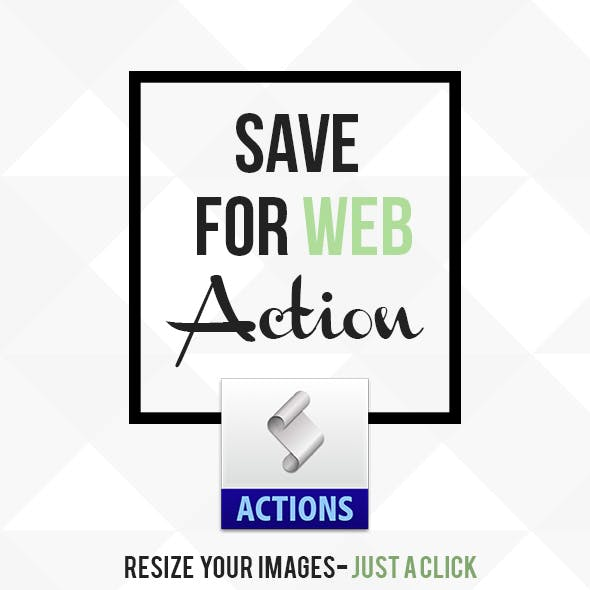Save for Web Action - Resize Image