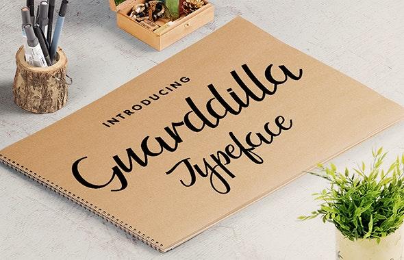 Guarddilla Typeface - Calligraphy Script