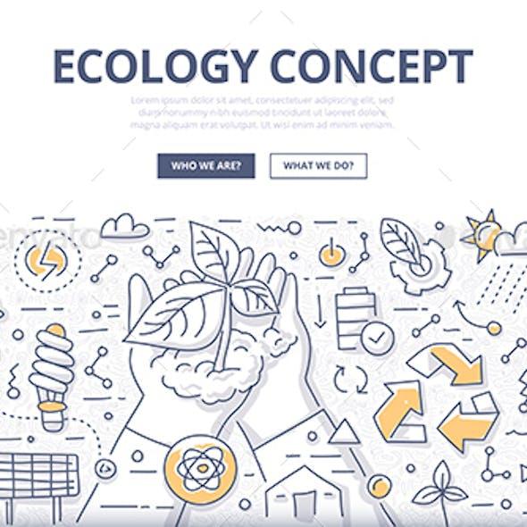 Ecology Doodle Concept