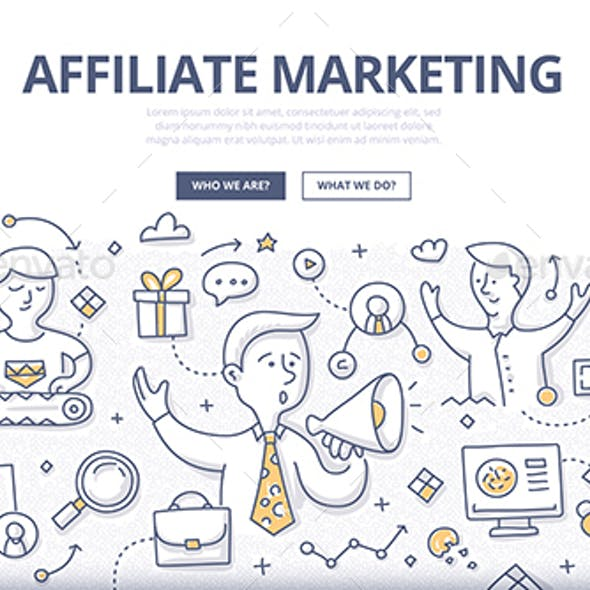 Affiliate Marketing Doodle Concept