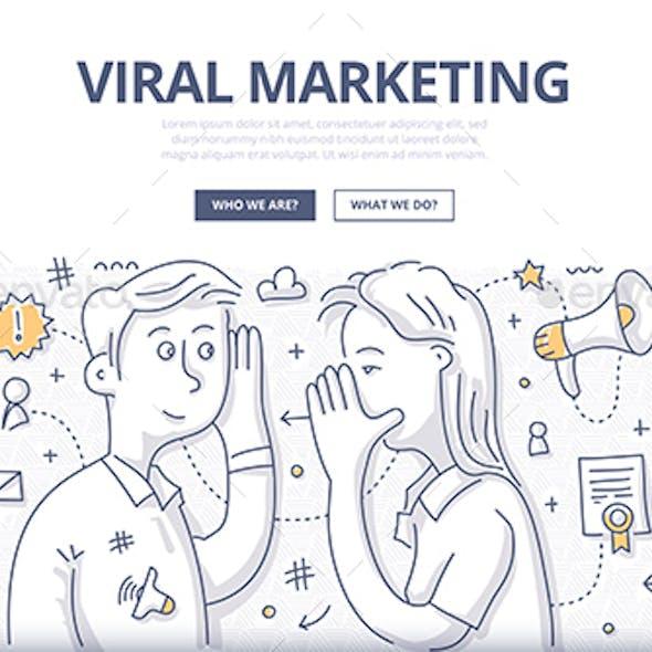Viral Marketing Doodle Concept