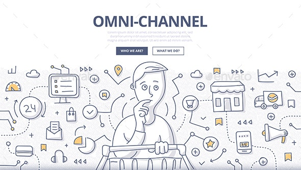 Omni-Channel Doodle Concept - Technology Conceptual