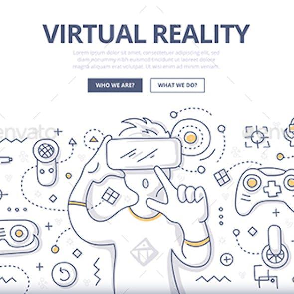 Virtual Reality Doodle Concept