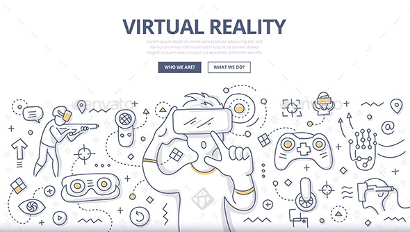 Virtual Reality Doodle Concept - Technology Conceptual