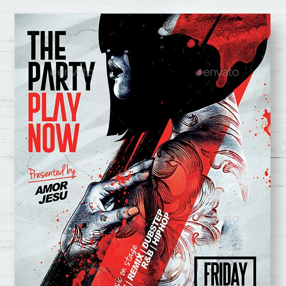 Play Now Flyer Template