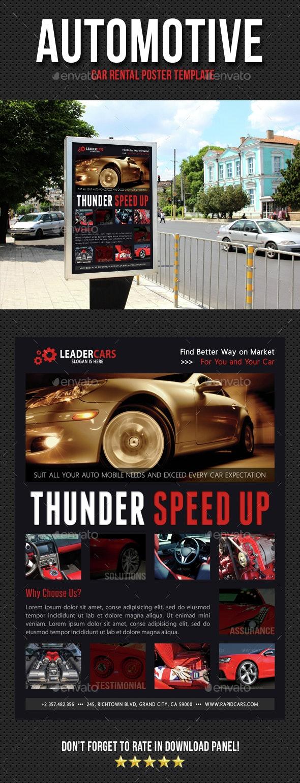 Automotive Car Rental Poster Template V08 - Signage Print Templates