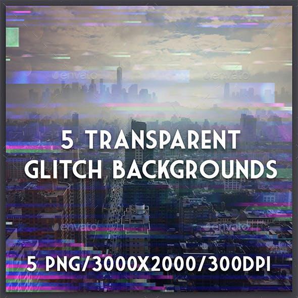 5 Transparent Glitch Backgrounds