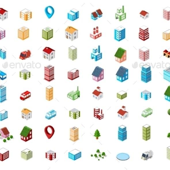 Icons Isometric City