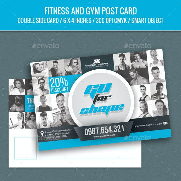 Fitness and GYM Post Card