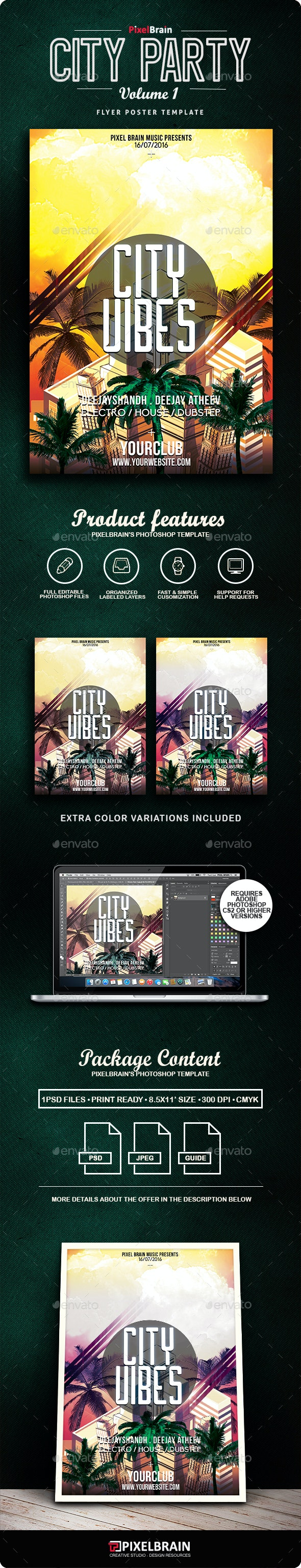 City Party Flyer/Poster Vol. 1 - Clubs & Parties Events