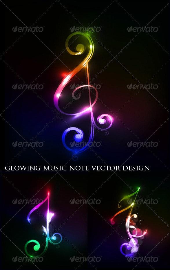 Colorful Music Note - Decorative Symbols Decorative