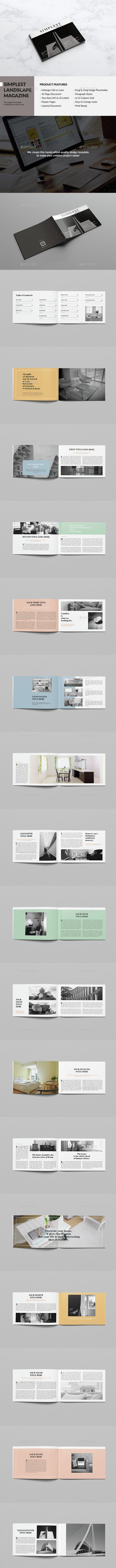 Simplest Landscape Magazine - Magazines Print Templates