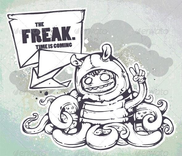 Hand Drawn Freak - Characters Vectors
