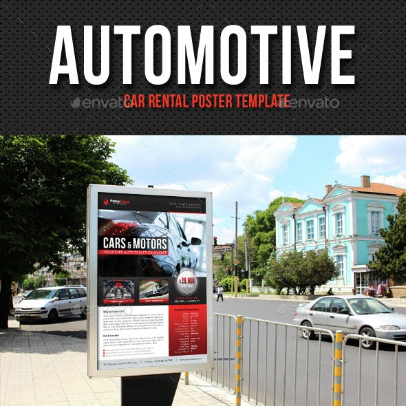 Automotive Car Rental Poster Template V10