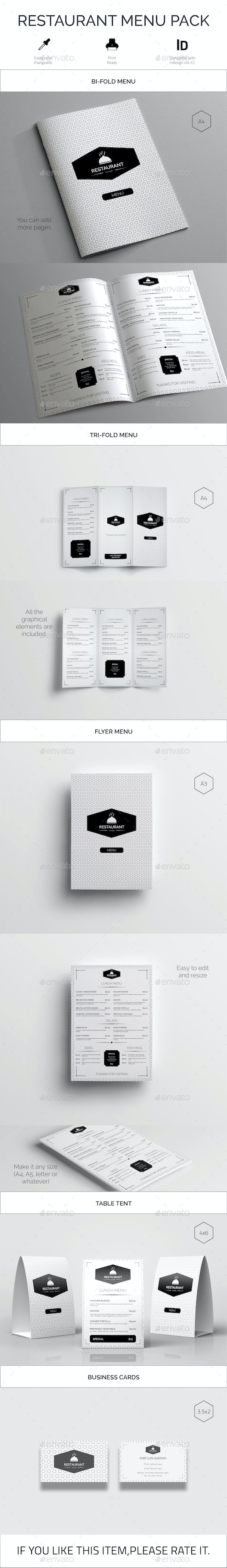 Restaurant Food Menu Pack - Food Menus Print Templates