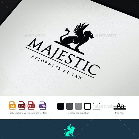Majestic Law Logo Template
