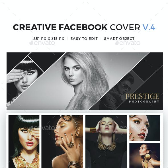 10 Creative Facebook Cover V4