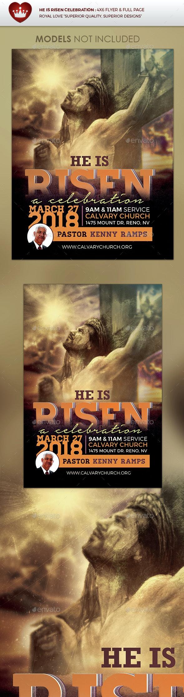 He is Risen Celebration Church Flyer - Church Flyers