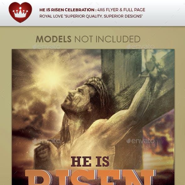 He is Risen Celebration Church Flyer