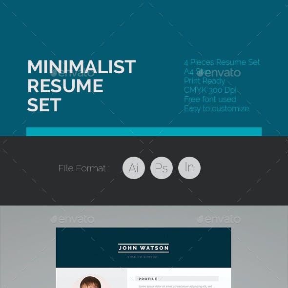 Minimalist Resume Set