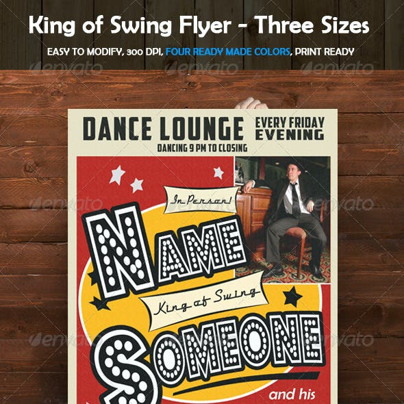 King of Swing Poster and Flyer