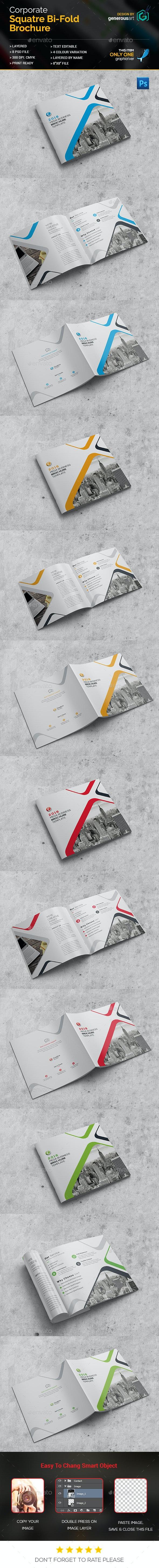 Pro Square Bi-Fold Brochure - Corporate Brochures