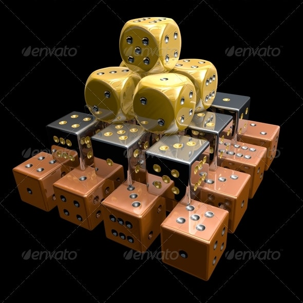 Dice Pyramid 3D - Objects 3D Renders