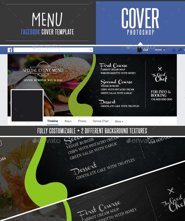 Food Menu Facebook Cover Template - Facebook Timeline Covers Social Media