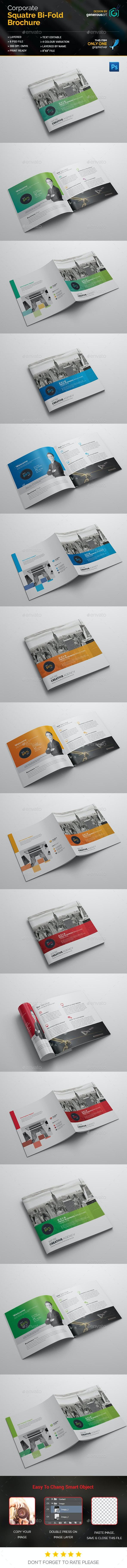 Corporate Square Bi-Fold Brochure - Corporate Brochures