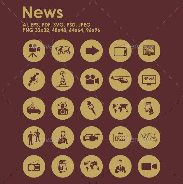 25 News icons - Media Icons