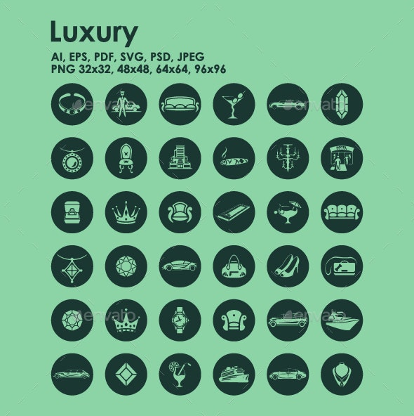 36 Luxury icons - Objects Icons