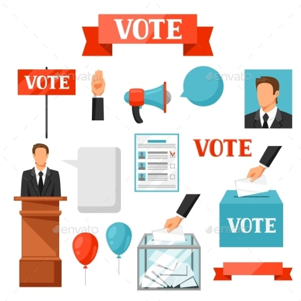 Vote Political Elections Set of Objects - Concepts Business