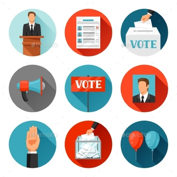 Vote Political Elections Icons - Concepts Business