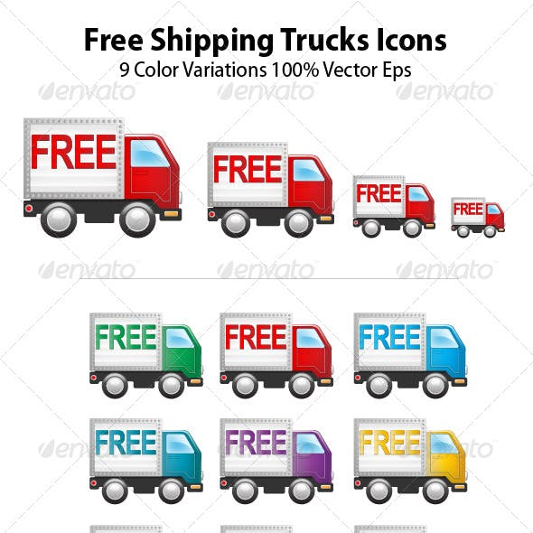 Free Shipping Truck Icons