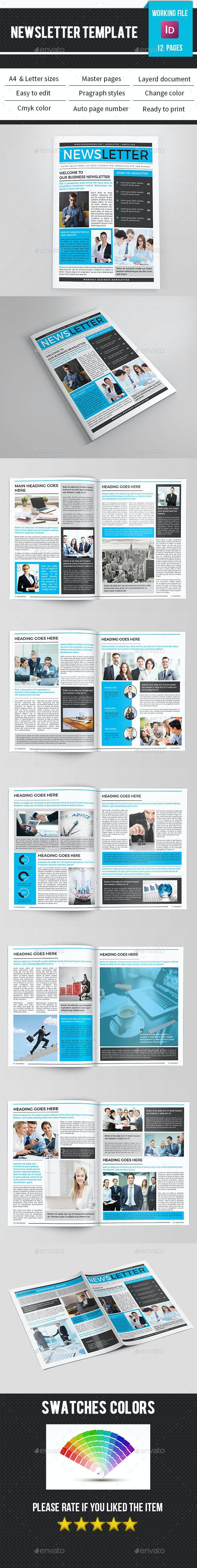 Corporate Newsletter-V10 - Newsletters Print Templates